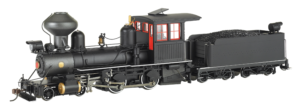 Black Wood Cab, Foot Board Pilot Outside Frame 4-4-0 - DCC