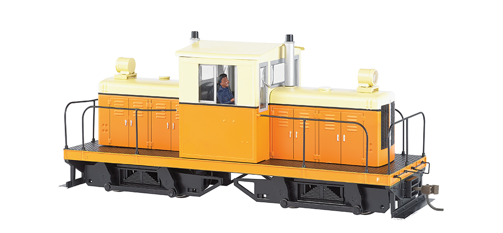 Bachmann 29202 On30 Whitcomb 50-Ton Center-Cab w/DCC Spectrum Painted Unlettered cream