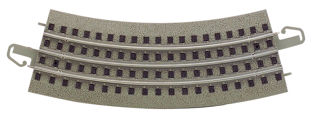 36 inch Diameter Curved Track (4 pcs) - carded - Click Image to Close