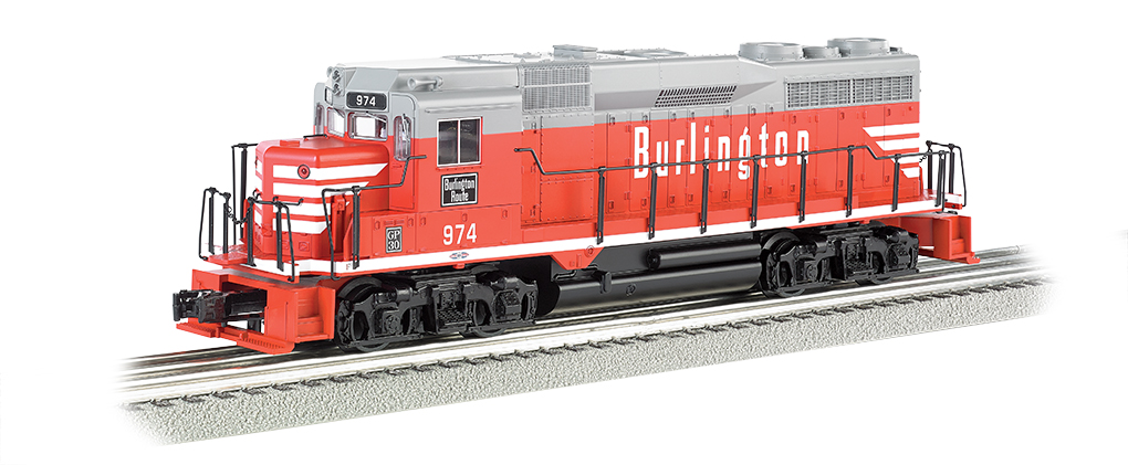Burlington #974 - GP30 w/ dynamic brake