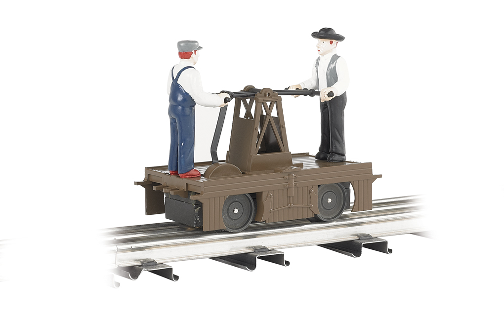Operating Handcar - Brown