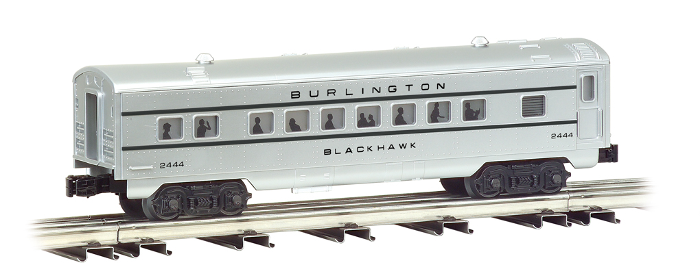 Burlington - O-27 Streamliners 4 Car Set