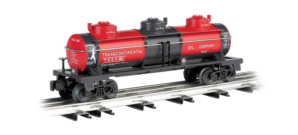 Transcontinental Oil Co. - Three-Dome Tank Car