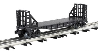 Chesapeake & Ohio - 40' Flat Car with Bulkhead Ends