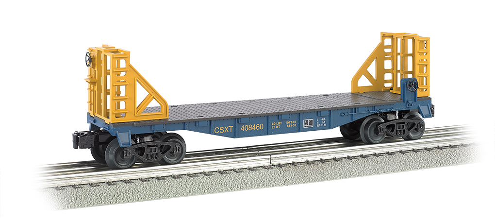 CSX - 40' Flat Car with Bulkhead Ends