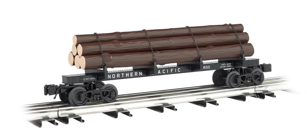 Northern Pacific Skeleton Log Car 47802 76 95 Bachmann