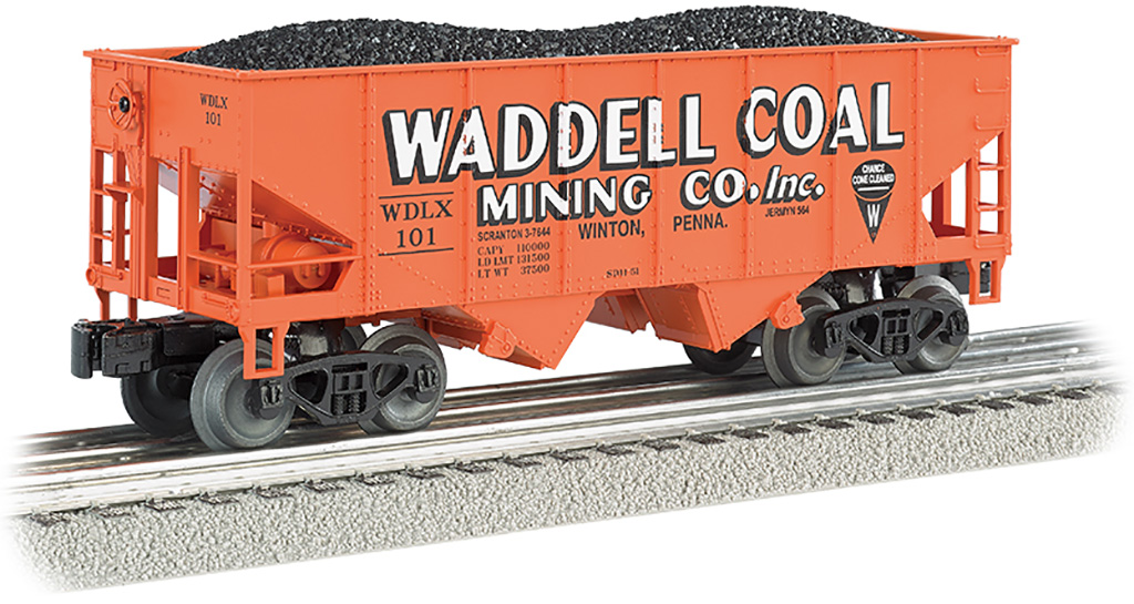 Waddell Coal - 55-Ton 2-Bay USRA Outside Braced Hopper