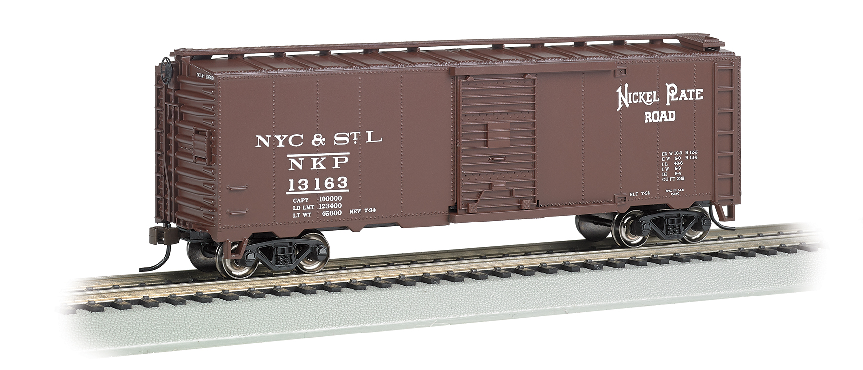 Nickel Plate Road # 13163 - Steam Era 40' Box Car (HO Scale)